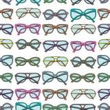 Άνευ ραφής πρότυπο με τα γυαλιά Στοκ Εικόνες