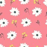 Άνευ ραφής πρότυπο με τα λουλούδια κρητιδογραφιών Στοκ Εικόνες
