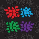 Άνευ ραφής πρότυπο με τα λουλούδια Στοκ εικόνες με δικαίωμα ελεύθερης χρήσης