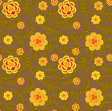 Άνευ ραφής πρότυπο με τα λουλούδια διανυσματική απεικόνιση