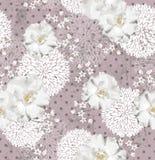 Άνευ ραφής πρότυπο με τα λουλούδια Στοκ Φωτογραφία