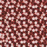 Άνευ ραφής πρότυπο με τα μικρά λουλούδια ελεύθερη απεικόνιση δικαιώματος