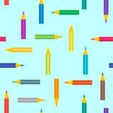 Άνευ ραφής πρότυπο με τα μολύβια Στοκ Φωτογραφίες