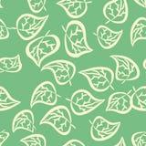 Άνευ ραφής πρότυπο με τα φύλλα Στοκ Εικόνες