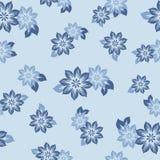 Άνευ ραφής πρότυπο με τα όμορφα λουλούδια επίσης corel σύρετε το διάνυσμα απεικόνισης ελεύθερη απεικόνιση δικαιώματος