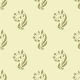 Άνευ ραφής πρότυπο με τα floral στοιχεία Στοκ Φωτογραφία
