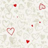 Άνευ ραφής πρότυπο με τις καρδιές βαλεντίνων ελεύθερη απεικόνιση δικαιώματος