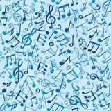 Άνευ ραφής πρότυπο με τις σημειώσεις μουσικής Στοκ φωτογραφία με δικαίωμα ελεύθερης χρήσης