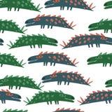 Άνευ ραφής πρότυπο με τους δεινοσαύρους διανυσματική απεικόνιση
