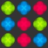 Άνευ ραφής πρότυπο λουλουδιών Φωτεινά στοιχεία χρωμάτων διανυσματική απεικόνιση