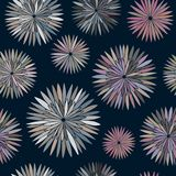 Άνευ ραφής πρότυπο λουλουδιών Στοκ Εικόνα