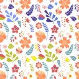 Άνευ ραφής πρότυπο λουλουδιών Στοκ Φωτογραφία