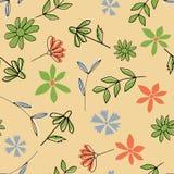 Άνευ ραφής πρότυπο λουλουδιών Στοκ Εικόνες