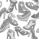 Άνευ ραφής πρότυπο παπουτσιών μόδας ελεύθερη απεικόνιση δικαιώματος