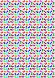Άνευ ραφής πρότυπο πεταλούδων Στοκ εικόνες με δικαίωμα ελεύθερης χρήσης