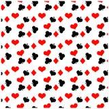 Άνευ ραφής πρότυπο πόκερ Στοκ Εικόνες