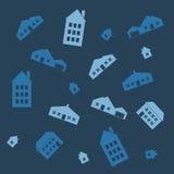 Άνευ ραφής πρότυπο σπιτιών Στοκ Εικόνες