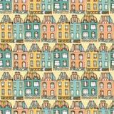 Άνευ ραφής πρότυπο σπιτιών Στοκ εικόνες με δικαίωμα ελεύθερης χρήσης