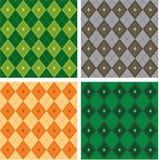 Άνευ ραφής πρότυπο τέχνης argyle-καρό διανυσματικό Στοκ Εικόνες