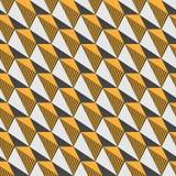Άνευ ραφής πρότυπο τριγώνων Αντιπαραβαλλόμενο μοντέρνο polygonal σκηνικό Απεικόνιση αποθεμάτων