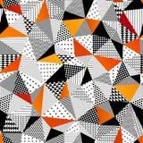 Άνευ ραφής πρότυπο τριγώνων επίσης corel σύρετε το διάνυσμα απεικόνισης Στοκ φωτογραφία με δικαίωμα ελεύθερης χρήσης