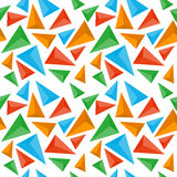 Άνευ ραφής πρότυπο τριγώνων Στοκ εικόνες με δικαίωμα ελεύθερης χρήσης