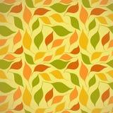 Άνευ ραφής πρότυπο φθινοπώρου με τα φύλλα Στοκ Εικόνα