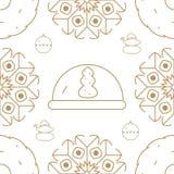 Άνευ ραφής πρότυπο χειμερινών διακοπών αφηρημένο ανασκόπησης Χριστουγέννων σκοτεινό διακοσμήσεων σχεδίου λευκό αστεριών προτύπων  Στοκ Φωτογραφία