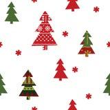 Άνευ ραφής πρότυπο Χριστουγέννων Στοκ Εικόνα