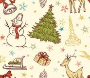 Άνευ ραφής πρότυπο Χριστουγέννων διανυσματική απεικόνιση
