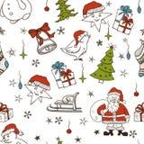 Άνευ ραφής πρότυπο Χριστουγέννων απεικόνιση αποθεμάτων