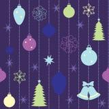 Άνευ ραφής πρότυπο Χριστουγέννων Στοκ Εικόνες