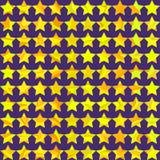 Άνευ ραφής πρότυπο disco με τα αστέρια Στοκ Φωτογραφία