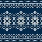 Άνευ ραφής πλέκοντας σχέδιο χειμερινών διακοπών Στοκ εικόνες με δικαίωμα ελεύθερης χρήσης