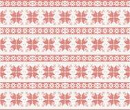 Άνευ ραφής πλεκτό σχέδιο με τη διακόσμηση Χριστουγέννων διανυσματική απεικόνιση