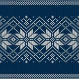 Άνευ ραφής πλεκτό σχέδιο χειμερινών διακοπών Στοκ Φωτογραφία
