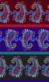 Άνευ ραφής ριγωτό σχέδιο του Paisley Στοκ Εικόνα