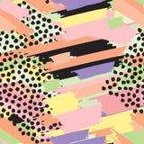 Άνευ ραφής ριγωτό χρωματισμένο υπόβαθρο επανάληψης των χρωμάτων Στοκ Φωτογραφίες