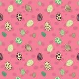 Άνευ ραφής ροζ σχεδίων αυγών Πάσχας Στοκ εικόνα με δικαίωμα ελεύθερης χρήσης