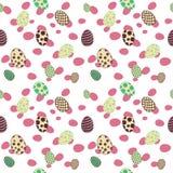 Άνευ ραφής ροζ σχεδίων αυγών Πάσχας στοκ φωτογραφία με δικαίωμα ελεύθερης χρήσης