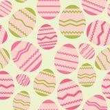 Άνευ ραφής ρόδινο σχέδιο άνοιξη αυγών Πάσχας απεικόνιση αποθεμάτων