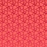 Άνευ ραφής ρόδινο σχέδιο καρδιών Στοκ Εικόνα