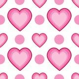 Άνευ ραφής σημεία και καρδιές Στοκ εικόνα με δικαίωμα ελεύθερης χρήσης