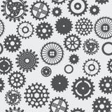 Άνευ ραφής σκοτάδι στροφών ροδών εργαλείων υποβάθρου σύστασης σχεδίων στο whi Στοκ Εικόνες