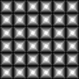 Άνευ ραφής σκοτεινό μονοχρωματικό γεωμετρικό σχέδιο με τα μαύρα τετράγωνα και τα άσπρα αστέρια Σύγχρονη τρισδιάστατη τυπωμένη ύλη απεικόνιση αποθεμάτων