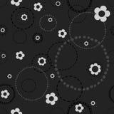 Άνευ ραφής σκοτεινό σχέδιο με τα doodles Στοκ Εικόνα