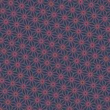 Άνευ ραφής σκούρο μπλε και burgundy διαγώνιο ιαπωνικό διάνυσμα σχεδίων asanoha διανυσματική απεικόνιση