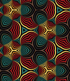 Άνευ ραφής σπείρες ουράνιων τόξων γεωμετρικό πρότυπο Κατάλληλος για το κλωστοϋφαντουργικό προϊόν, το ύφασμα και τη συσκευασία Στοκ Εικόνα