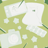 Άνευ ραφής στοιχεία σχεδιαστών σχεδίου Στοκ φωτογραφία με δικαίωμα ελεύθερης χρήσης