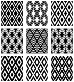 Άνευ ραφής σχέδια διαμαντιών Γεωμετρικές συστάσεις καθορισμένες Στοκ Εικόνα